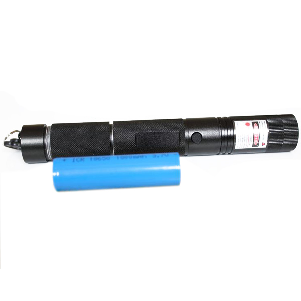 HTPOW Flashlight Torch with Star 200mW Focusable Red Laser Pointer Burn Match in the 4 Meters Away